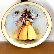 The Little Captive Maud Humphrey Bogart Little Ladies 1989 23K Gold Rim Plate