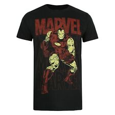 Marvel - Iron Man Repeat - Official - Mens - T-shirt - Black - Sizes S-XXL