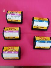 Kodak Advantix Aps 400 (2 rolls) and 200 (3 rolls) - 25 Exp new old stock