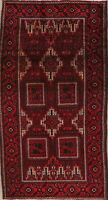 Vintage Balouch Afghan Oriental Area Rug Wool Hand-Knotted Home Decor Carpet 4x8