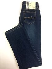 St Johns Bay Stretch Boot Cut Blue Jeans Denim Sits Just Below Waist Womens NWT