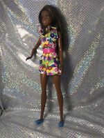 Fashionista Barbie AA BLONDE STREAKS flowered Shorts Gorgeous Doll Dressed Shoes