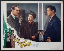 PHILO VANCE'S GAMBLE ALAN CURTIS, VIVIAN AUSTIN 1947 LOBBY CARD #2