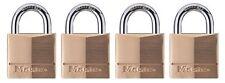 Master Lock Padlock Solid Brass Lock 1 9 16 in. Wide 140Q Pack of 4 Keyed Alike