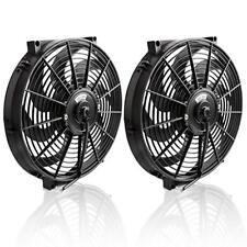 "Universal Slim Engine Fan14"" Electric Radiator Cooling Fan Assembly Kit 1000CFM"