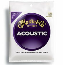 3 Sets MARTIN M175 80/20 Acoustic Guitare Strings 11-52