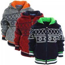 Jungen-Strickjacken mit Reißverschluss aus 100% Baumwolle