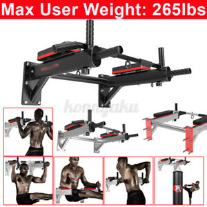 Multifunction Wall Mounted Pull Up Bar Home Gym Fitness Door Bracket Wo