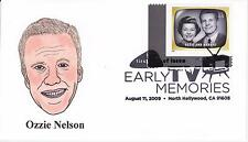 P M WAGNER HD/HP PMW CACHET FDC FIRST DAY COVER 2009 TV OZZIE & HARRIET SHOW -AL