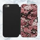 Cute Pretty Flowers Floral Faux Leather Flip Case Wallet For iPhone Samsung G83