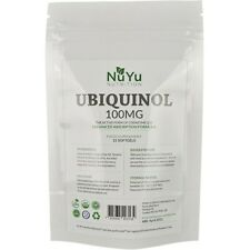 Ubiquinol 100mg Softgels (Bio-Active Coenzyme Q10) Kaneka Enhanced Absorption