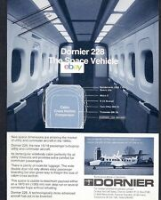 DORNIER 228 VTOL THE SPACE VEHICLE 15/19 PASSENGER INTERIOR VIEW 1981 AD
