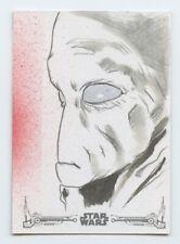 Star Wars Black & White A New Hope sketch card by Alex Iniguez
