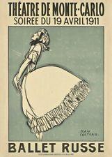 Ballet Russe Theatre De Monte-Carlo, 1911, Bronislava Nijinska Ballet Poster