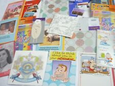 50 Cards photo paper bundle Mixed job lot Wrapping paper Party invites Lucky dip
