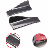 Glossy Carbon Fiber Look (ABS) Car Rear Lip Angle Splitter Diffuser Anti-crash