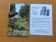 Vintage 1989 Bath Scenic Wall Calendar, Postcards & Abbey Info, Dorothy House