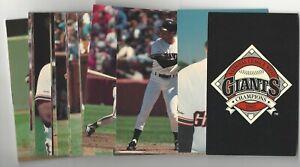 1988 San Francisco Giants SGA 36 Card Postcard Photo Set