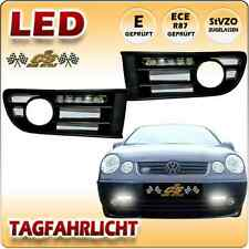 VW Polo 9N LED Tagfahrlicht Set BLACK im Nebel Gitter Bj. 2001-2005 NEU