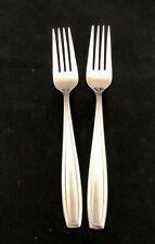 2 Dinner Forks Bristol Satin Oneida Stainless Steel Flatware