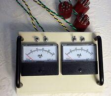 4-Socket-Dual-Analog-Tube-Amp-Bias-Meter probe tool 6L6 6V6 EL34 5881 RCA  kt88