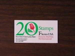 "US Scott # BK183  Booklet  20 ""F"" Flower 29c Stamps 1991 P# 2222  MNH      s75"