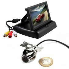 "4.3"" Car LCD Monitor Screen + Rear View Backup Camera HD 100% Waterproof"