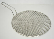 """Korean BBQ Round Triple Stainless Steel Fish Cooking Grill Grid Grate 11.5"""""""