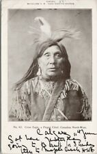 'Crow Eagle' Pegan Indian Chief Canadian Northwest Indigenous c1905 Postcard F64