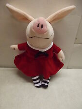 OLIVIA THE PIG BEAN BAG SOFT PLUSH STUFFED TOY DOLL RED DRESS IAN FALCONER