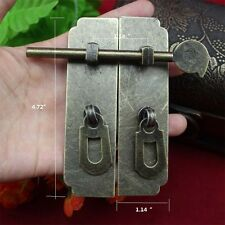"Chinese style furniture hardware iron door knocking pull 4.72"" locklatch & bolt"
