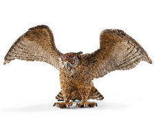Schleich 14738 Eagle Owl Toy Wild Bird Animal Figurine Model - NIP