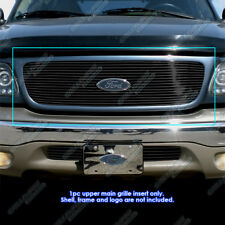 Fits 1999-2002 Ford Expedition Black Billet Grille Grill Insert