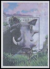 Congo 2000 MNH MS, Desert warthog, Wild Animals, Waterfalls (D72)