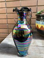 Gorgeous Iridescent Murano Art Glass Vase