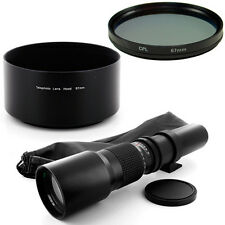 Albinar 500mm Tele Lens for Canon Rebel 500D T2i T3 7D T3 T3i T4i 60D 1100D 650D