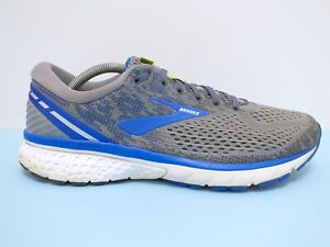 Brooks Ghost 11 Men's Running Shoes Grey/Blue/SIlver Sz 10.5 US