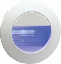 Recessed Blue LED Round Wall Light Indoor/Outdoor Mini Light 80mm Diam NH020B