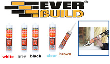More details for everbuild general purpose silicone  sealant clear white brown black grey