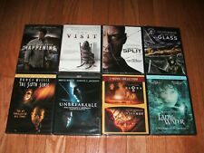 Brand New. All 9 M. Night Shyamalan thrillers on DVD. Unbreakable, Split, Glass+