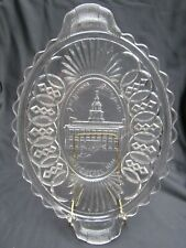 1876 EAPG Pattern Glass Historical Washington Centennial Independence Hall Plate
