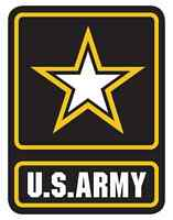 US Army Star USA sticker decal white gloss high grade vinyl