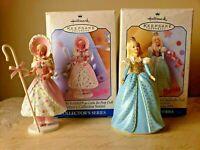 Lot of (2) Barbie Hallmark Keepsake Ornaments: CINDERELLA & LITTLE BO BEEP ~ NIB
