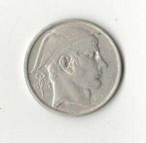 Belgium 1949 Silver 50 Franc Coin