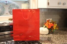 New Lot of 20 16x6x19 Glossy Red Gift Shopping Fashion Tote Bags w/Handles