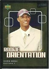 2003 UD Victory Rookie Orientation Chris Bosh foil rookie card, Miami Heat