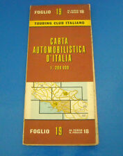 Cartina Stradale Carta Automobilistica d'Italia - Campania Molise Puglia 1961