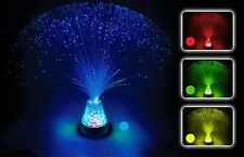Fibre Optic Lamp Colour Changing Crystal Base - 4 Colours - 13 Inch Mood Nove...