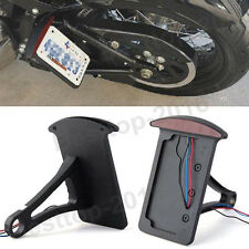 Black License Plate Side Mount Tail Light Bracket For Harley Sportster Chopper