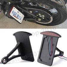 Black License Plate Side Mount Tail Light Bracket For Harley Sportster Chopper